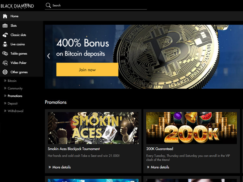 Black Diamond Casino Review