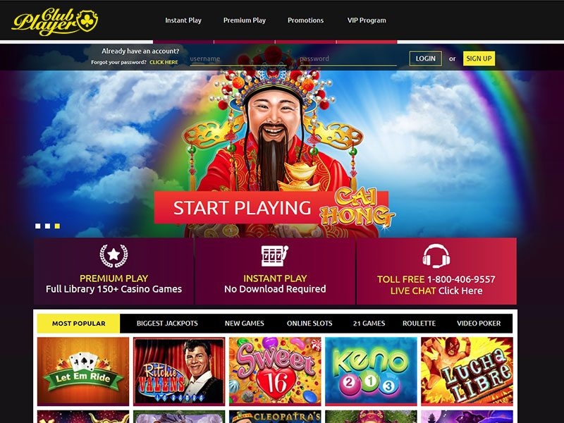 Gaming Club Casino Flash Player