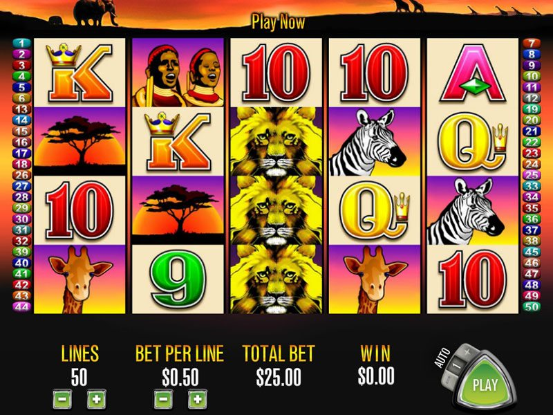 Pokie slots 50 lions party poker casino games