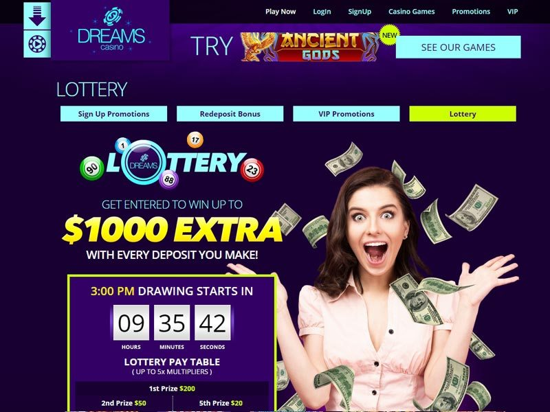 Dreams casino free bonus