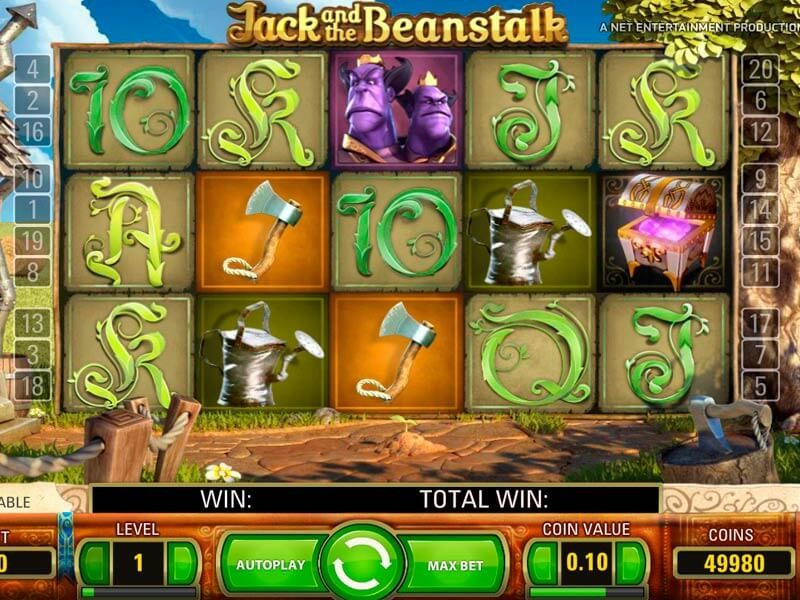 Jack and the Beanstalk Pokie Machine